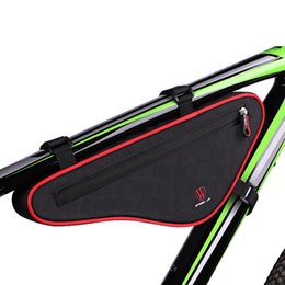 Wholesale Bicycle Accessories Bag - 2017 Large Capacity Nylon Reflective MTB Road Bike Front Bag Bike Panniers Triangle Cycling Bicycle Bags Accessories