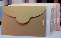 Wholesale Invitation Letter Party - Wholesale- 150*100mm Personality Customized DIY Business Envelopes Gift Wedding Letter Invitations korean stationery Wedding Party Envelope