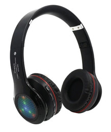 Wholesale Dj Headphones Black High Performance - STN-460L Stereo Wireless LED Headphone Headsets Noise cancelling Bluetooth DJ Headphones High Performance with FM TF With retailbox