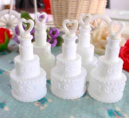Wholesale Soap Water Bubble Bottle - Wholesale- Wedding Bubble Bottle cake love heart style soap water bottle for wedding party supplies baby favors present wedding decoration