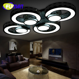 Canada FUMAT Acrylic Ceiling Lights Modern LED Lamps For Living Room Bedroom Light Fixture Indoor