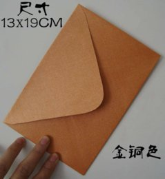 Wholesale Small Invitations Card - Wholesale- 50Pcs lot 19x13cm pearl paper luxury Envelopes for Business VIP Card Small Wedding Party Invitation Card postcard office supply