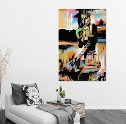 Wholesale Oil Paintings Nudes - Vintage Home Decor Canvas Art Abstract Sexy Nude Girls Oil Painting Back Of Figure Art Painting For Living Room Bedroom Wall Decor Paintings