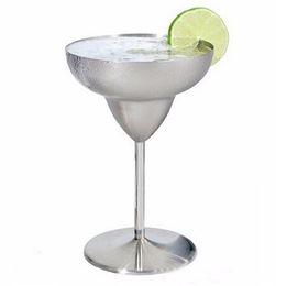 2017 NUEVAS Copas de Vino Copa Martini Margaret Copa Copa de Cóctel Acero inoxidable Cóctel Copa de Vino Tinto 260 ml desde fabricantes