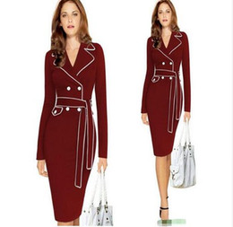 Wholesale Winter Best Dress For Women - best selling new Winter for Ladies Long Sleeve Dress Autumn Sexy gomn Dresses