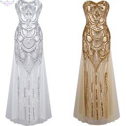 Anjo-modas mulheres lantejoula sem alças querida tule lace up banquete vestido vestido de baile Império vestidos de baile 186 de