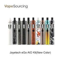 Wholesale New Ego Tanks - eGo Aio New Colors All-in-One design Joyetech eGo AIO Kit with 2ml Tank and 1500amh Battery 100% Original vs ego aio kit