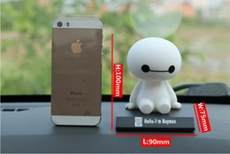 Wholesale Shake Dolls - 2017 new Baymax Robot Bobble Head Toys Car Toys Figure Toy Car Accessories Shaking his head
