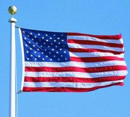 Wholesale America National - America Flag U.S.A National Flags Polyester U.S. Banner 90*150cm Stars Banners Portable Stars Stripes USA flag KKA1839