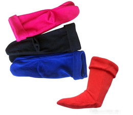 Wholesale Wholesale Women Rain Boots - High Knitted Chunky Cable Cuff Fleece warm Welly Socks Winter Women Men Rain Boot Socks Socks For Rain Boots free shipping in stock
