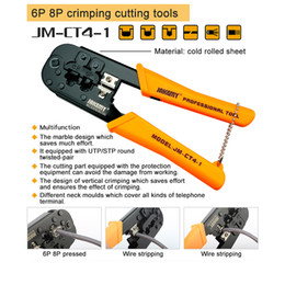 Wholesale Internet Cable Tool - JM-CT4-1 6P 8P Ethernet Internet Cable Crimping Plier Repair Hand Tools Wire Cutter Cutting Pliers Tool Kit 3305053