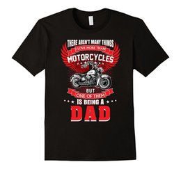 Wholesale Men Office Shirts - Sale 100% Cotton T Shirt Motorcycle Rider Being A Dad Tshirt Father Motorbike Grandpa Short O-Neck Office Tee For Men