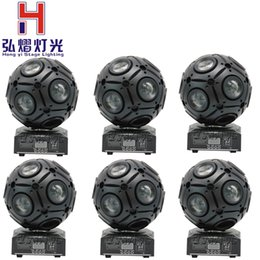 Wholesale Moving Head Light Rgbw Cree - Wholesale- 6pcs lot 9x10w Cree RGBW 4IN1 LED Beam Football Moving Head Light DMX512 Professional DJ Equipment