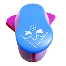 Wholesale Paper Punch Holes - Wholesale- Embossing DIY Corner Paper Printing Card Cutter Scrapbook Shaper large Embossing device Hole Punch Kids Handmade (Impatiens)