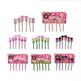 2019 sacs blush rose 20Sets 6pcs / set Pinceau Maquillage Professionnel Fondation Blush Poudre Doux Mignon Rose Or Rose Maquillage Pinceaux Set avec sac sacs blush rose pas cher