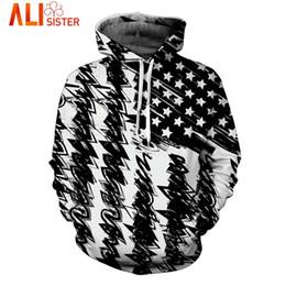 Wholesale Tracksuits Men Usa - Wholesale- USA Flag Black White Hoodies Sweatshirt Alisister 2017 Autumn Winter Men's 3d Hooded Tracksuit Hip Hop Pullover Dropship Tops