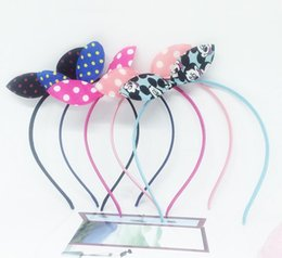 Wholesale Wholesale Orders Hair - Free shipping Bowknot knot hoop festival headband fabric fashion wild rabbit ear hair band TG020 mix order 30 pieces a lot