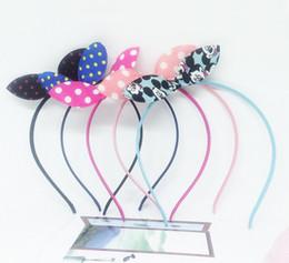 Wholesale Hair Hoop Christmas - Free shipping Bowknot knot hoop festival headband fabric fashion wild rabbit ear hair band TG020 mix order 30 pieces a lot