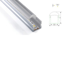 Wholesale Aluminum Wall Light - 100 X 1M sets lot linear light aluminum profile led and 60 degree U channel with lens for ceiling or recessed wall lights