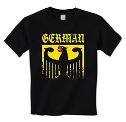Wholesale German T Shirts - man t-shirt Old German Empire Eagle Emblem Crest Coat Of Arms Germany Pride Mens T-Shirt
