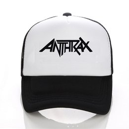 Wholesale Metal News - Wholesale- 2016 news mens womens Rock Metal Anthrax - Logo Music Baseball cap Summer Spring Cotton Caps Black White Hat Snapback Cap