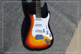 Wholesale China Guitar Free Shipping - Free shipping Wholesale new guitarra fen st sunburst color electric guitar with S-S-S pickups guitar in china