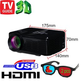 Wholesale cheap tv projectors - Wholesale-Free Shipping 1300lumen Cheap HD TV home cinema Projector HDMI LCD LED Game PC Digital Mini Projectors 1080P Proyector 3D Beamer