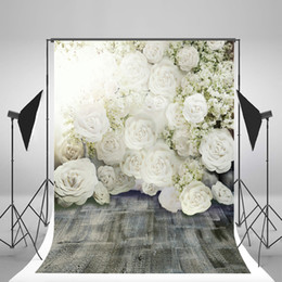 Wholesale paint photo backdrop - 5x7ft(150x220cm) Wedding Backdrops Flowers Romantic Photography Backgrounds for Photo Studio fond pano de fundo para estudio Fotografia