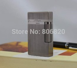 Wholesale New Gas Cigarette - Wholesale-S.T Memorial Dupont lighter Bright Sound! New In Box metallic Serial number #C109