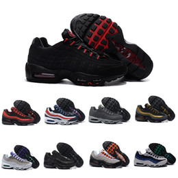 Wholesale Open Discount - Drop Shipping Wholesale Casual Shoes Men Air Cushion 95 Sneakers Boots Authentic 2017 New Walking Discount Sports Shoes Size 40-46