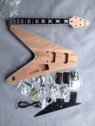 Wholesale Electric Guitar Kits Mahogany Body - DIY Electric Guitar Kit Solid Mahogany Body
