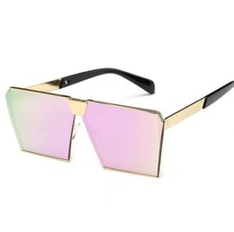 Wholesale Unique Waterproofing - 2017 New Style Women Sunglasses Unique Oversize Shield UV400 Gradient Vintage Eyeglasses Brand Designer Sunglasses 10pcs Lot Free shipping