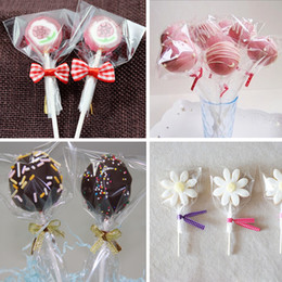 Wholesale Cellophane Bags Wholesale - Plastic bags 6size Clear Cellophane Cake Pop Bags Lollipop Bakery Gift Cookie Packaging Packing 200pcs lot