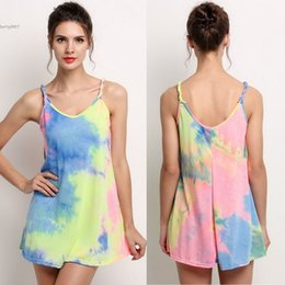 Wholesale Desinger Clothes - New desinger plus size dresses for womens clothing Sexy Lady Summer Beach Multi-color Sleeveless Strap Dress O-Neck