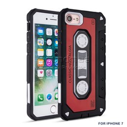Wholesale Fit Tape - Classical Magnetic Tape With Dust Plug 2in1 TPU PC Cover Retro Case For Iphone X 8 7 6 6s Plus Samsung Galaxy Note 8 S8 Plus Retail Box