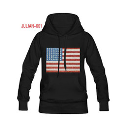 Wholesale Personalized Flags - American Flag Custom Black Cotton Pullover Hoodie Personalized Classic Comfortable Stylish Adult Hooded Sweatshirt for Men XS-XXL