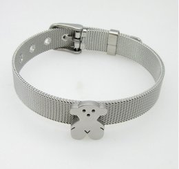 Wholesale Promotional Teddy - Package mail promotional stainless steel teddy bear bracelet Europe and the United States sell like hot cakes accessories