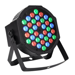 Wholesale Dmx Wash Light - Par Lights with 36 LEDs RGB Wash by DMX Control for Stage Lighting 36 LEDs Stage Lights DJ Light Projector Stage Ligh
