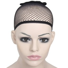 Wholesale Cheap Hairnets - Wholesale-Stretchable Elastic Hairnet To Weave Adjustable Stretching Headwear Hairnets Fashion Unisex Hot Sale Cheap High Quality Black
