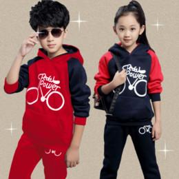 Wholesale Dress Coats For Boys - Wholesale- New Boys Girls Clothing Set Autumn Children Suit Long Sleeved Fashion Shirts Coats Pants For Christmas Gift Kids Dress Clothes