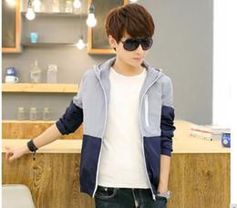 Wholesale Boy Coat Army - Men Causal Thin Hooded Jacket Coats Boys Windbreaker Zipper Coats Outwear