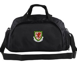 Wholesale girl effects - Welsh duffel bag National badge tote Effects organizer backpack Football luggage Sport shoulder duffle Outdoor sling pack