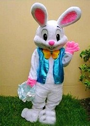 Wholesale Easter Bunny Character Costume - ems free shipping Easter bunny mascot costume fancy dress Interesting clothing Animated characters for part and Holiday celebrations