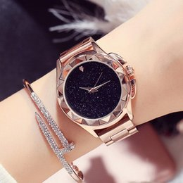 Wholesale Ladies Watches Big Dials - Fashion Star Shinning Dial Women watch Top Brand Do Stainless steel Lady Wristwatch Female Quartz Big Dial Luminous hands Relogio Masculine