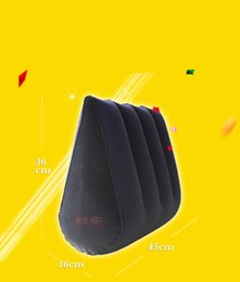 Wholesale Sex Triangle - Inflatable Sex Pillow Positions Adult Sex Sofa Bed Cushion Triangle Wedge Pad Sofa Toys Sex furniture Hold Pillow Q064