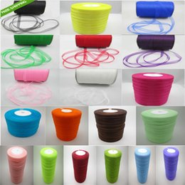 Wholesale Paper Rolls Ribbons - Transparent belt wedding gift ribbon technique! 500 yards pick out and buy, 50 yards roll! Hot sale! 19 colors are available