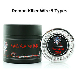 Wholesale Rolled Coils - Demon Killer Wire Mix Flat Twisted Fused Clapton Hive Alien Quad Tiger Wire Coils 15 Feet Roll Coils Organic Cotton fit Atomizer