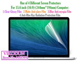 Wholesale 15 Inch Screen Wholesale - Wholesale-universal 15 15.6 inch 16:9 Anti blue ray Clear protective film Matte Anti-glare tablet screen protector notebook computer