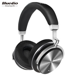 Wholesale Headphones Active Noise - Bluedio T4 Active Noise Cancelling Stereo Wireless Bluetooth Headphones 4.2 Headset with Built In Mic Gift Package