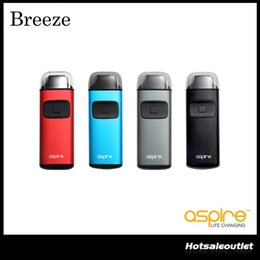 Wholesale E Juices - Authentic Aspire Breeze Starter Kit with 2ml of e-Juice Capacity & 650 mAh Built-in Battery TPD Regulations' All-in-one Device